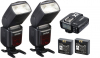 GODOX Pro Kit 2X Flash V860II-F+Disparador X1T-F p.- Fuji