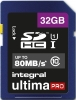 INTEGRAL Cartão SDHC Ultima Pro 32GB (80MB/s) (Class 10) (Promo)