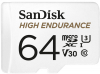 SANDISK Cartão Micro SDXC High Endurance 64GB (100MB/s) (Class 10)